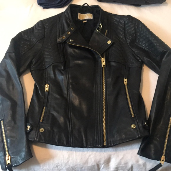 MICHAEL Michael Kors Jackets & Blazers - Michael Michael Kors dark navy leather jacket